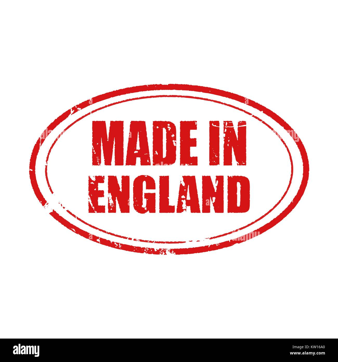 Vector made in England stamp. informative illustration, advertising and marketing background - Stock Image