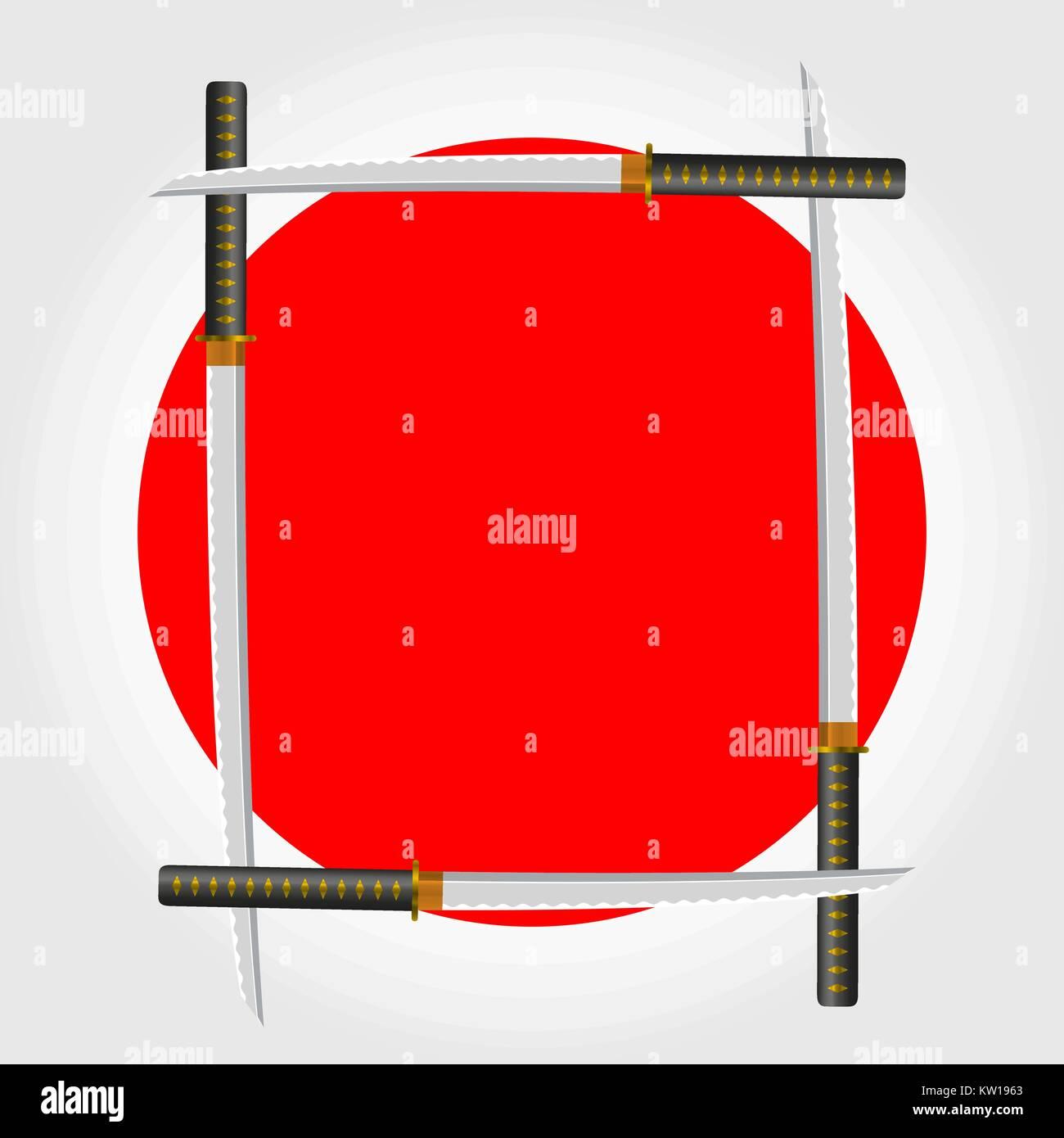 Japanese Sword Frame. Vector Illustration Stock Vector Art ...