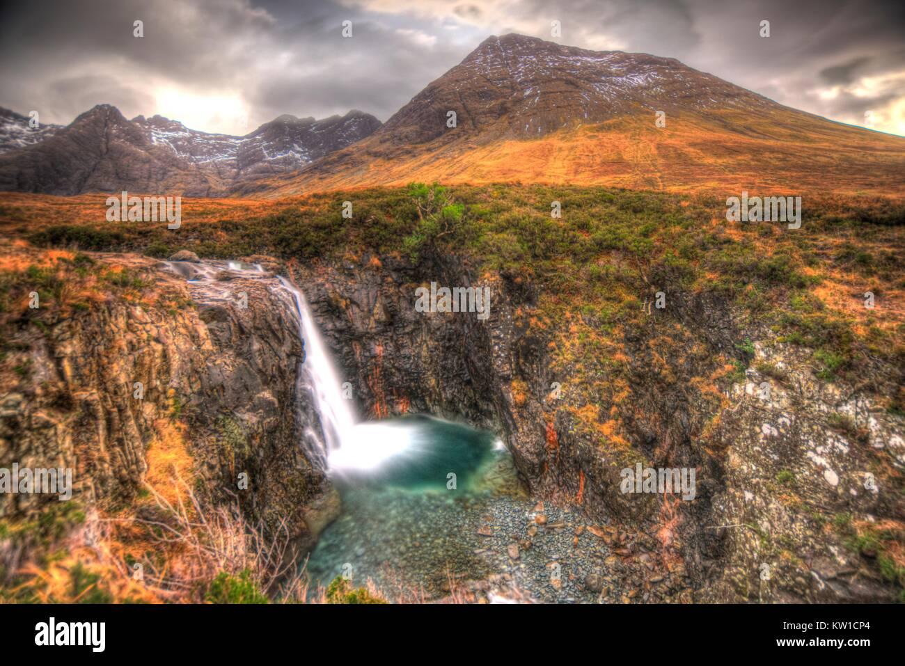 Fairy Pools on Isle of Skye - Stock Image