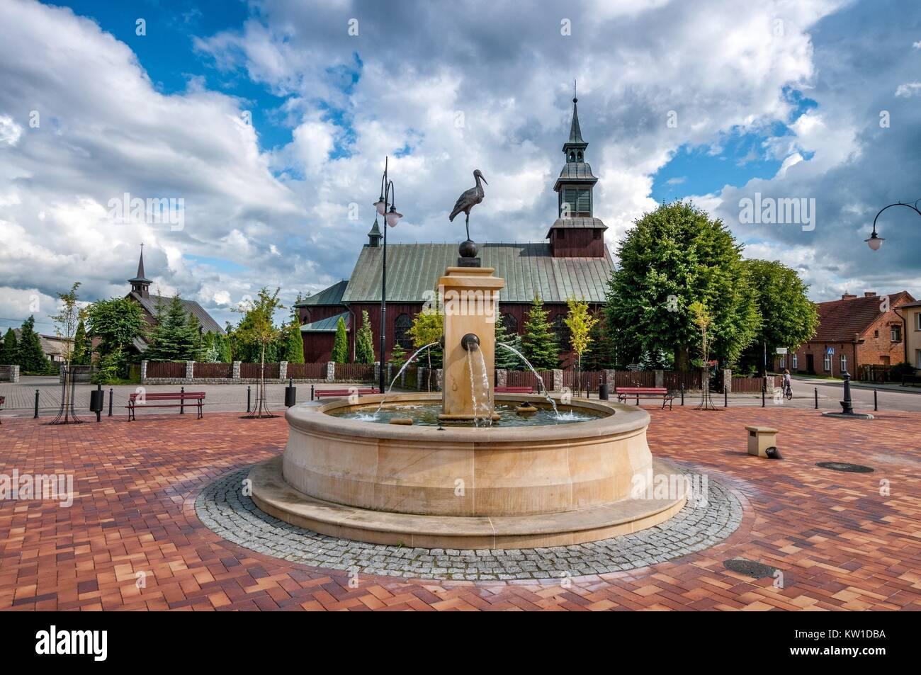 St. John square. Karsin, Pomeranian Voivodeship, Poland. - Stock Image