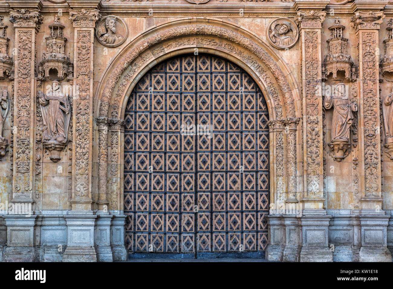 Entry into the convent of San Esteban in Salamanca. Spain. - Stock Image