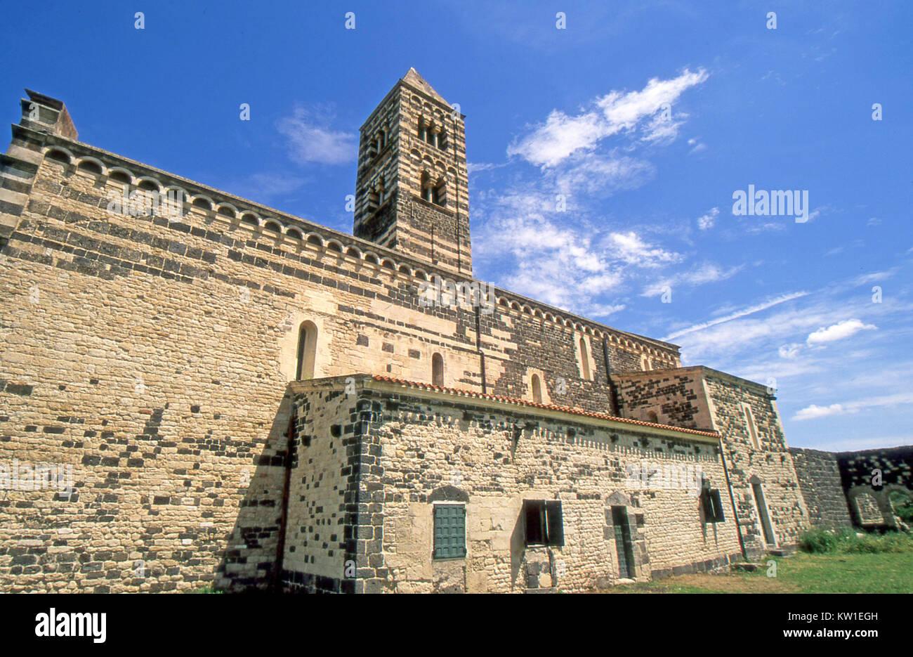 Codrongianos, Sardinia. Saccargia romanesque church XI century - Stock Image