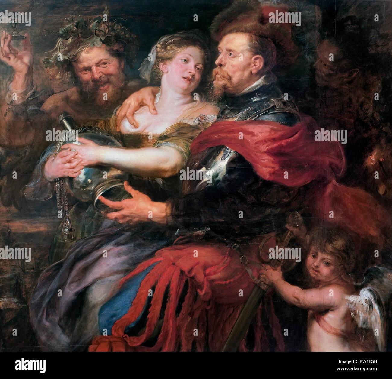 Venus and Mars by Peter Paul Rubens (1577-1640), oil on panel, c.1632-35 - Stock Image