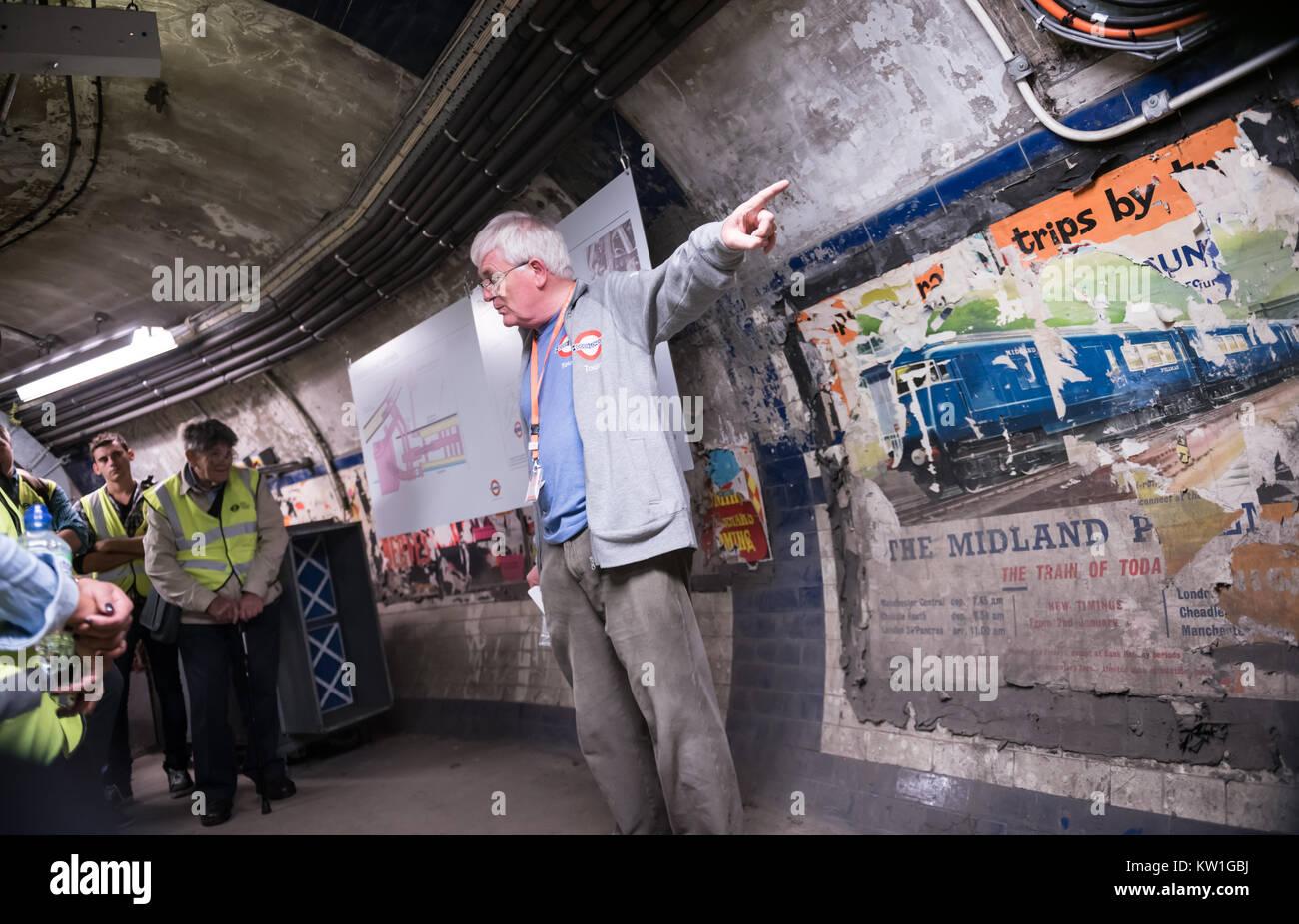 Euston Underground Tunnels, Hidden London Tour - Stock Image