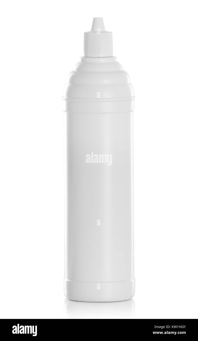 White plastic container product - Stock Image