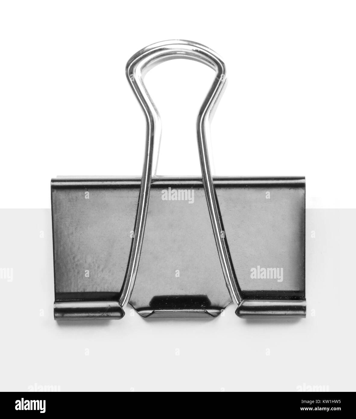 Close up of a binder clip - Stock Image