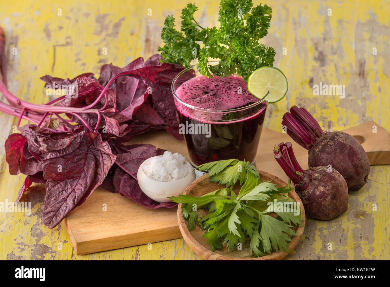 Beet and Red spinach Smoothie - Stock Image