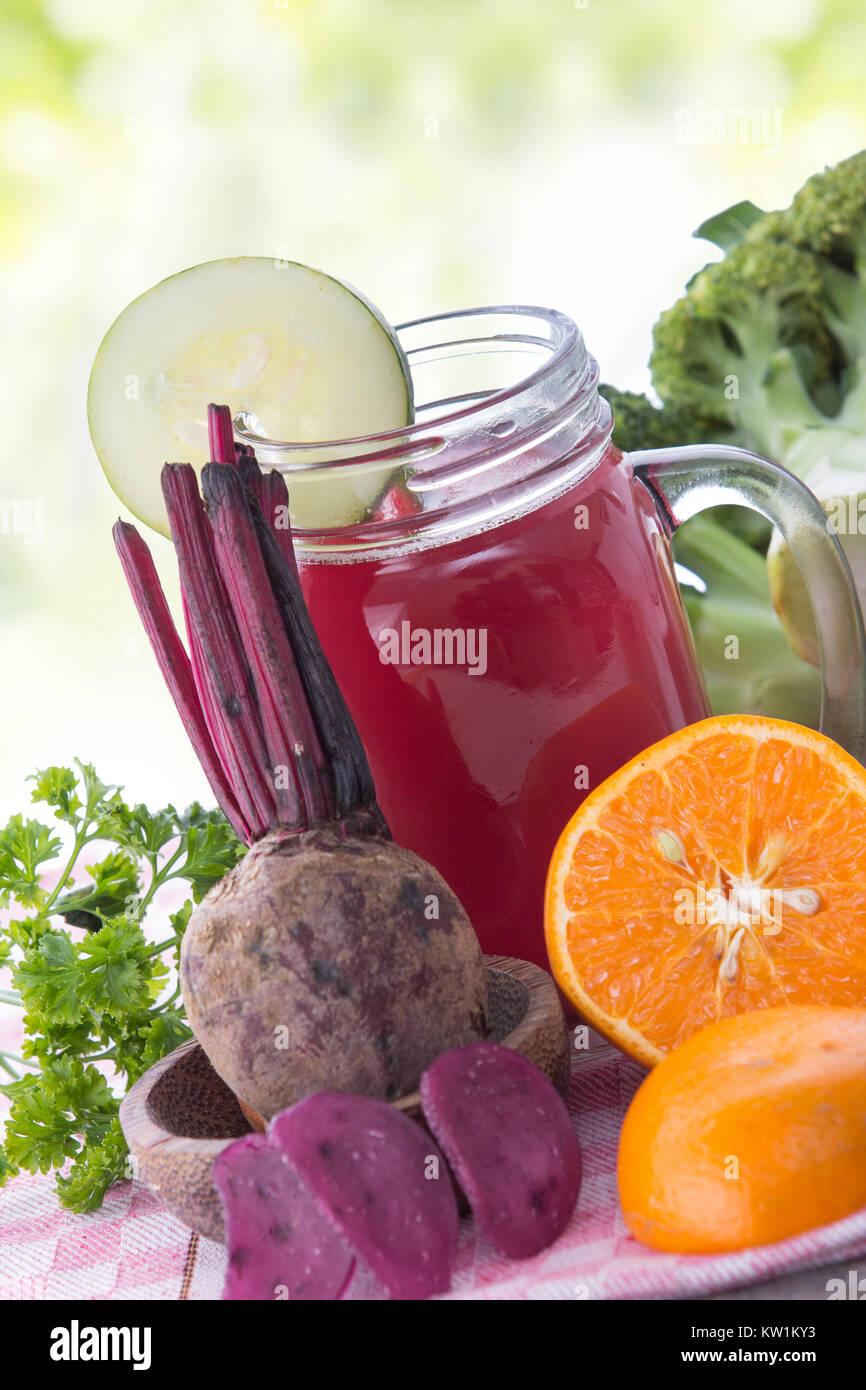 beet root juice - Stock Image