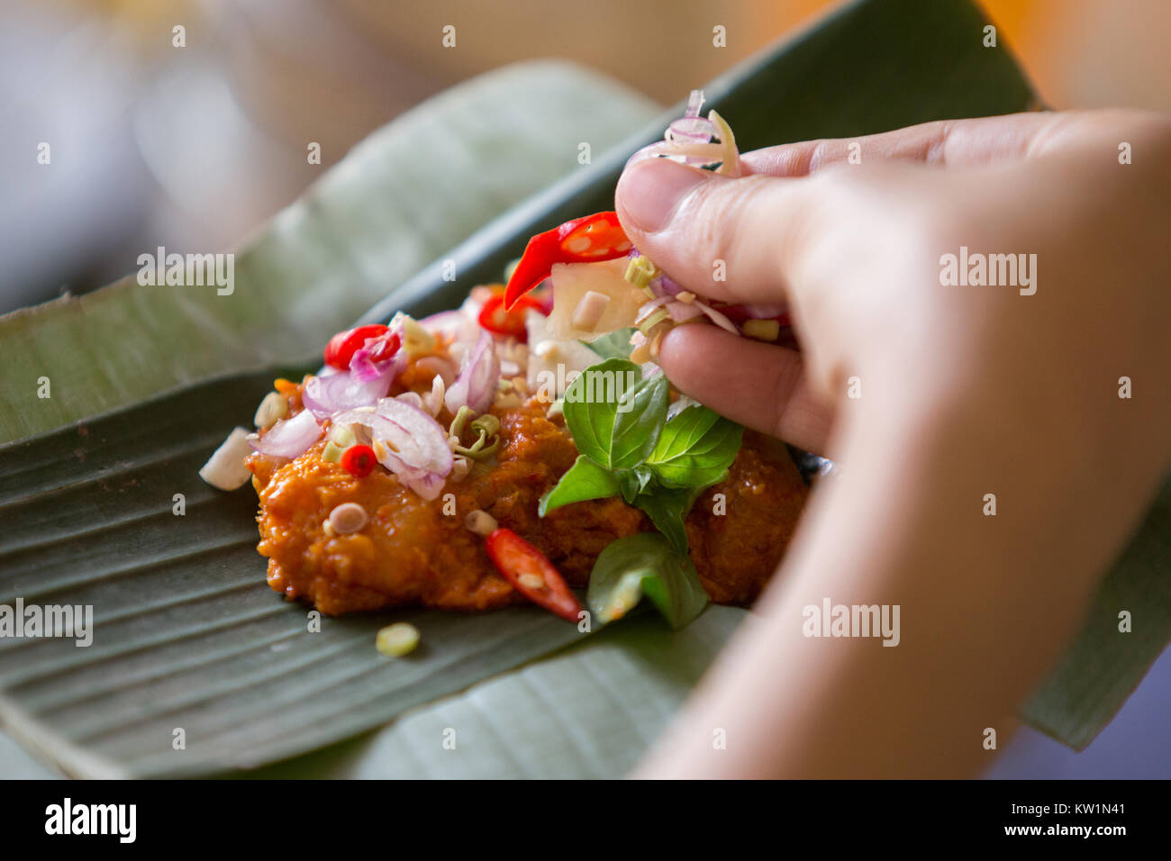 traditional asian cuisine - Stock Image