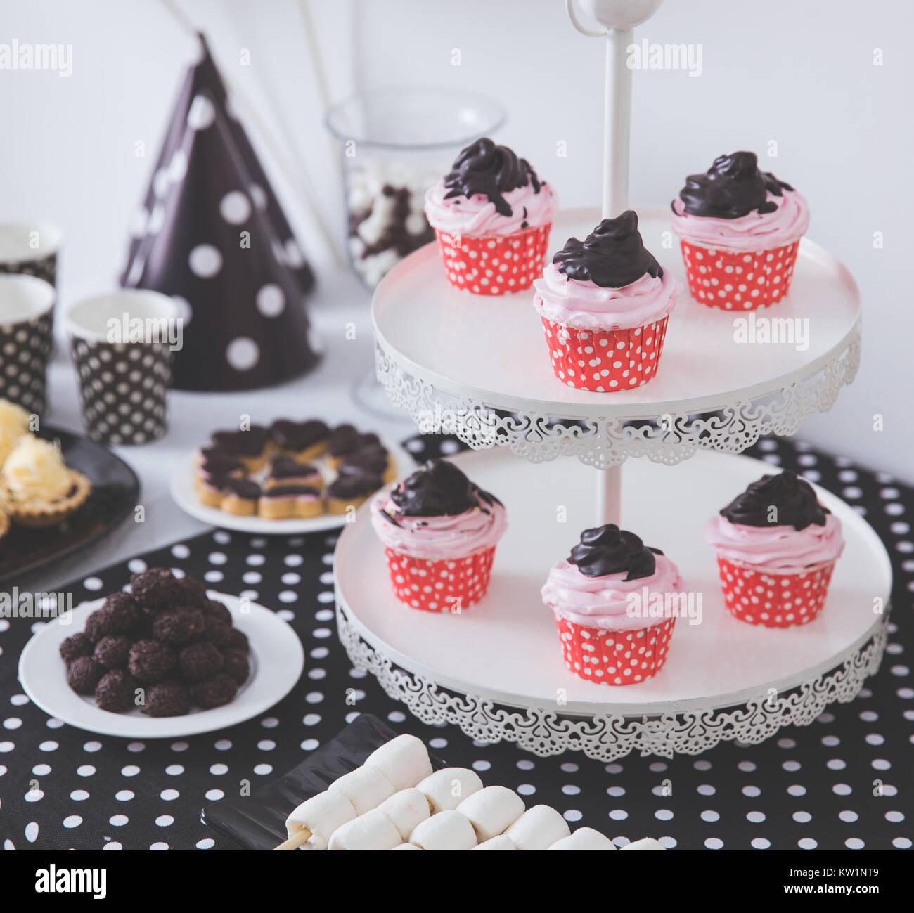 Black And White Birthday Party Decoration Stock Photo 170298809 Alamy