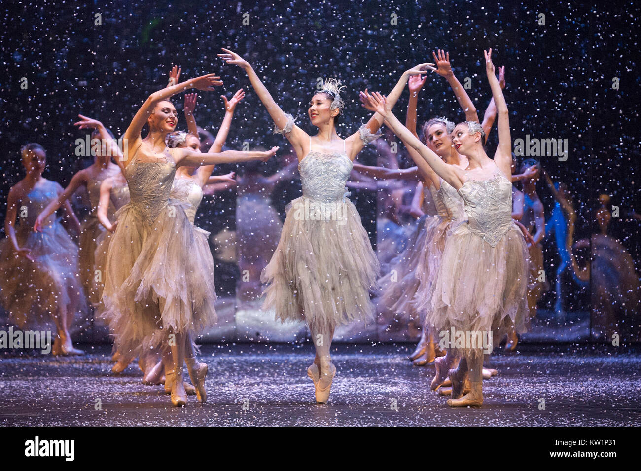 The Nutcracker ballet, brought to the Royal Albert Hall by the Birmingham Royal Ballet for the first time, between - Stock Image