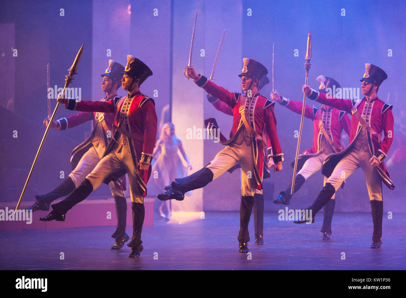 The Nutcracker ballet, brought to the Royal Albert Hall, London, for the first time by Birmingham Royal Ballet between - Stock Image