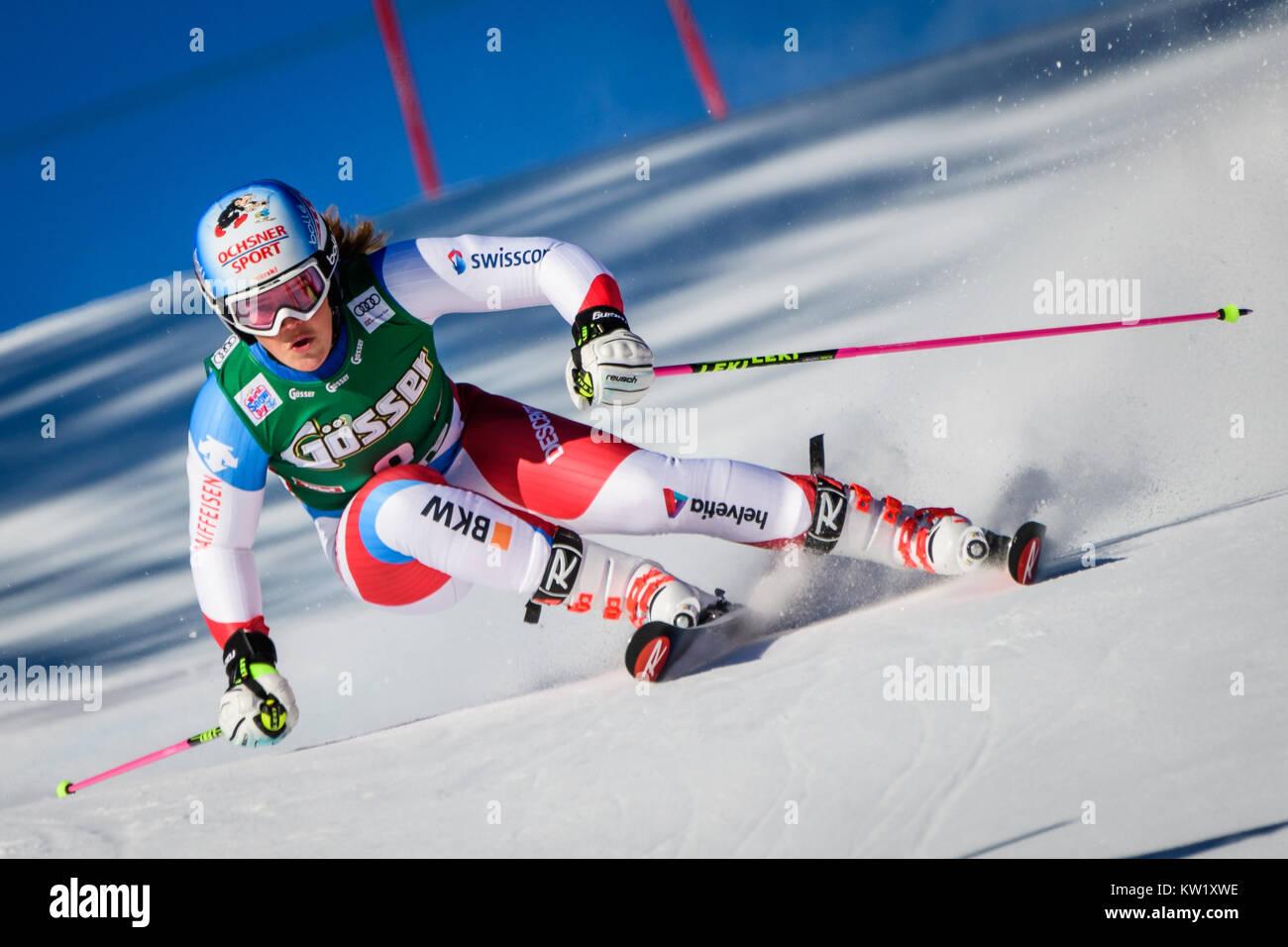 Lienz, Austria. 29th Dec, 2017. Melanie Meillard of Switzerland competes during the FIS World Cup Ladies Giant Slalom - Stock Image