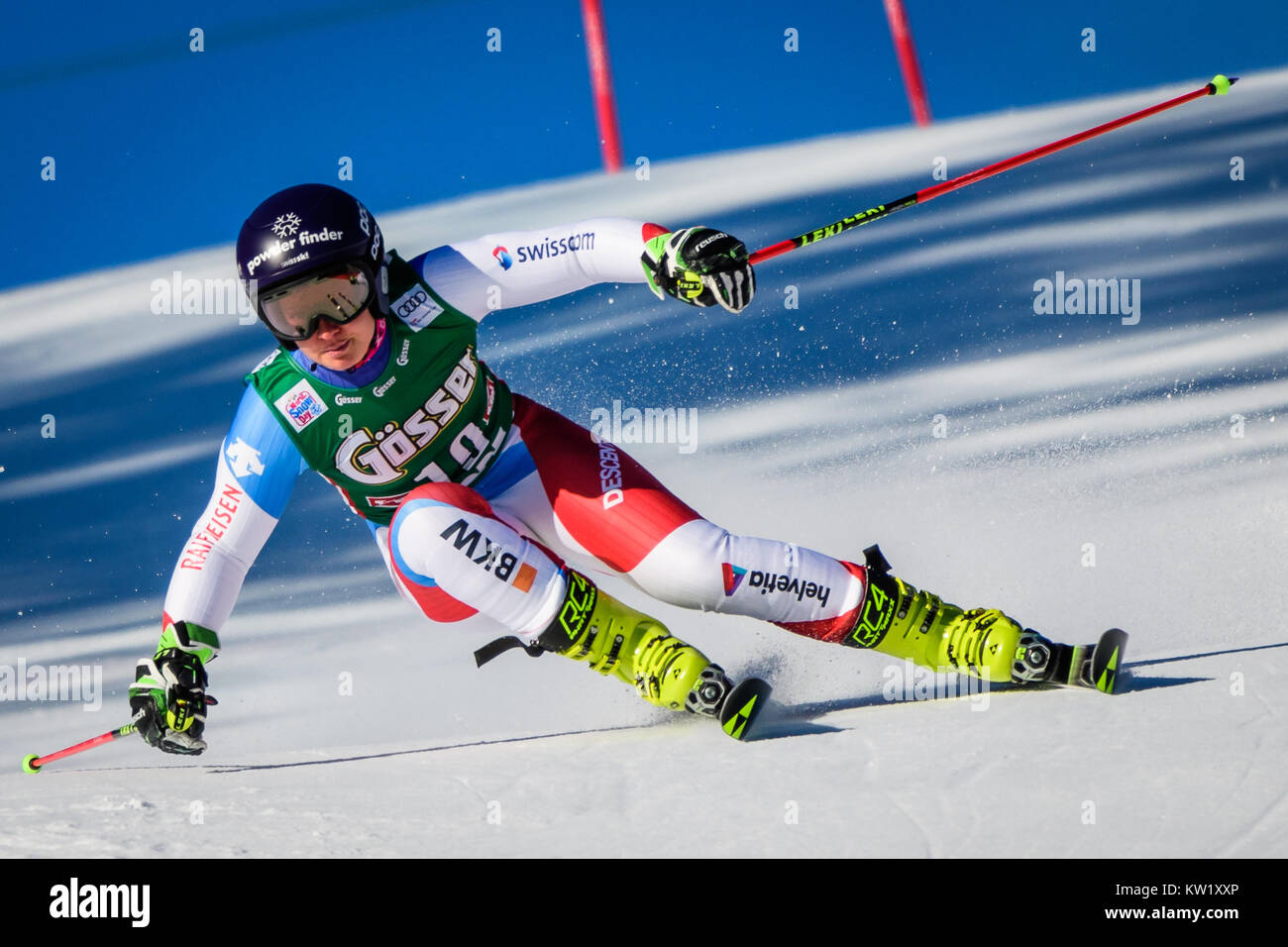 Lienz, Austria. 29th Dec, 2017. Simone Wild of Switzerland competes during the FIS World Cup Ladies Giant Slalom - Stock Image