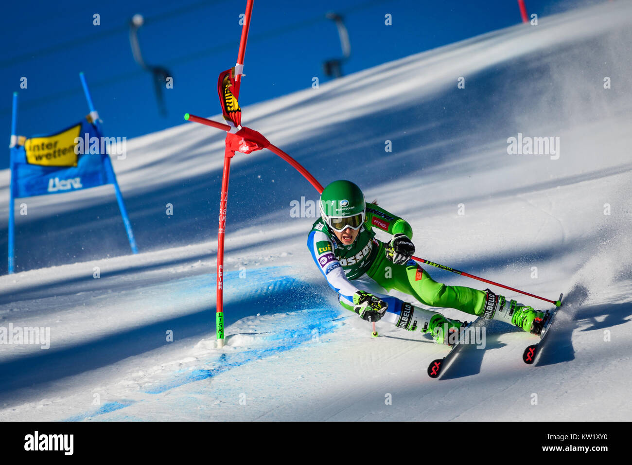 Lienz, Austria. 29th Dec, 2017. Tina Robnik of Slovenia competes during the FIS World Cup Ladies Giant Slalom race - Stock Image