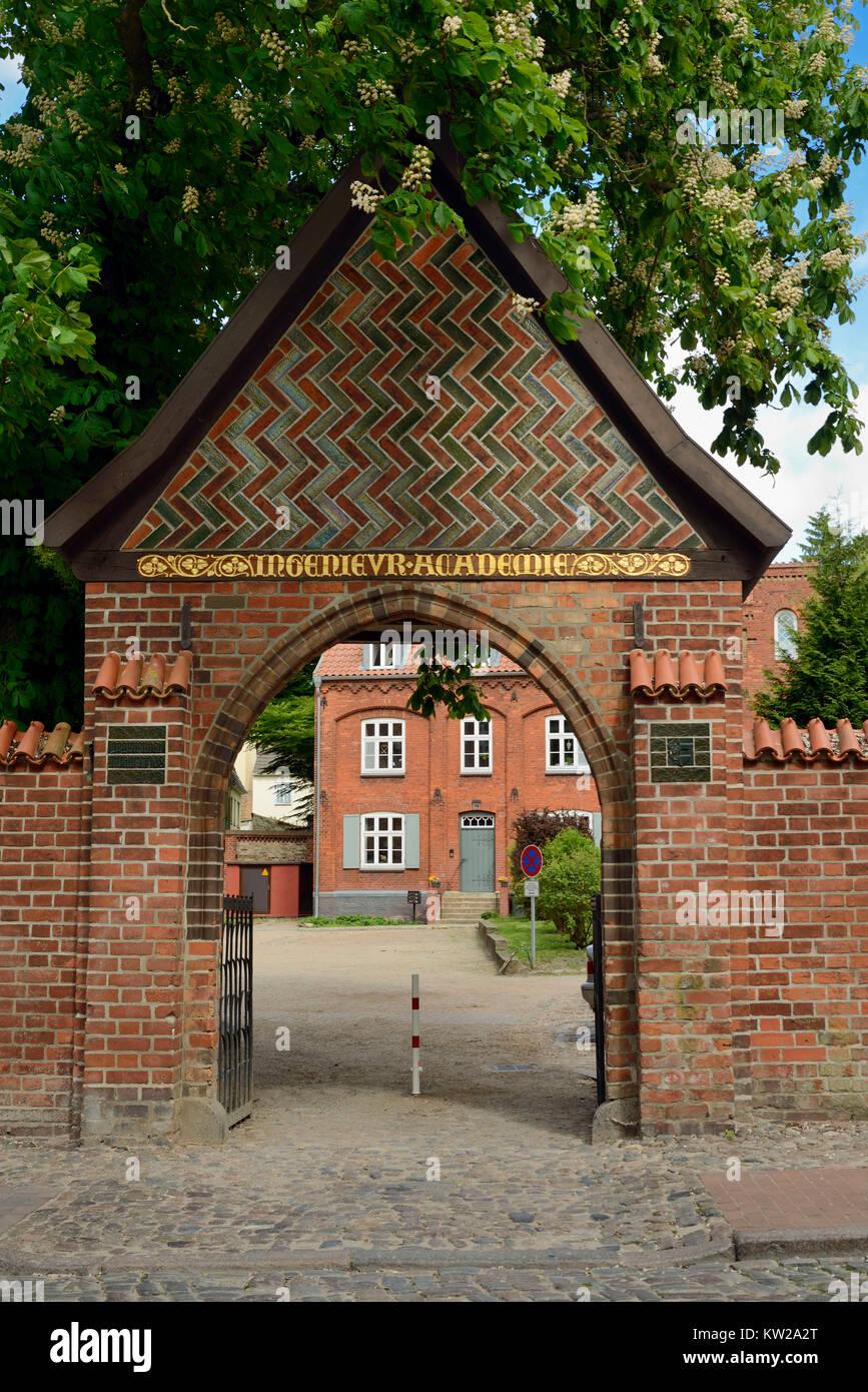 Wismar, main entrance to the holy mind court, Portal zum Heiligen Geist Hof - Stock Image