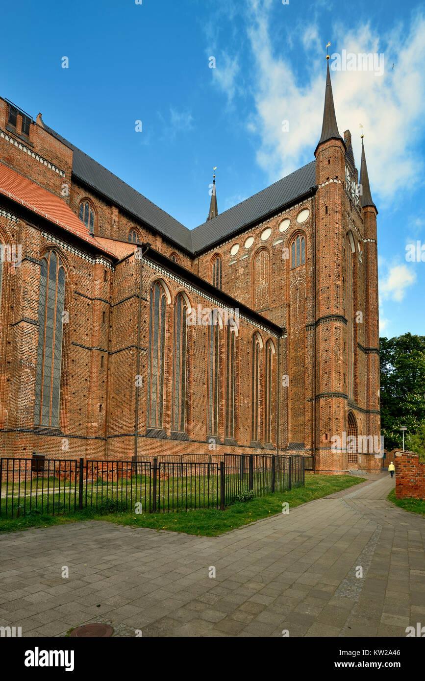 Wismar, scrap view Saint Georgen church, Teilansicht Sankt Georgen Kirche - Stock Image