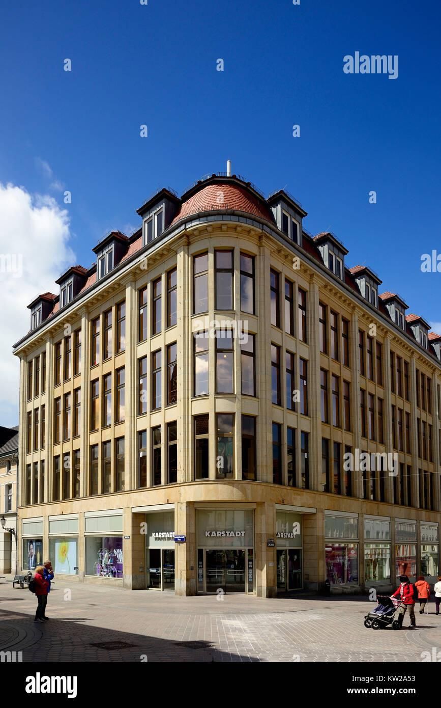 Wismar, Karstadt parent company in Rudolph Karstadt Platz, Karstadt Stammhaus am Rudolph Karstadt Platz - Stock Image