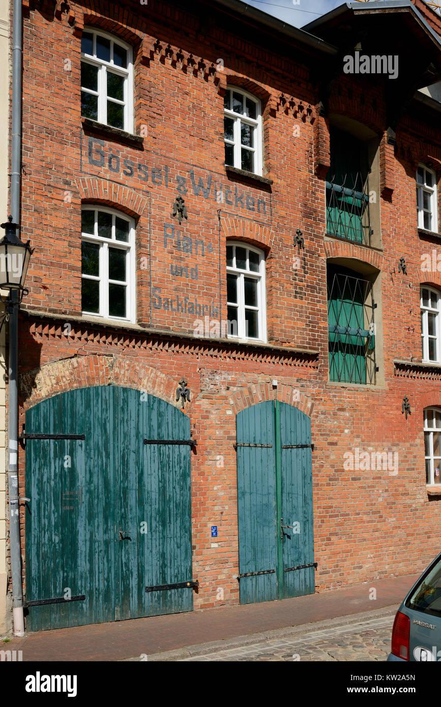 Wismar, cultivated town and industrial history, gepflegte Stadt und Industriegeschichte - Stock Image