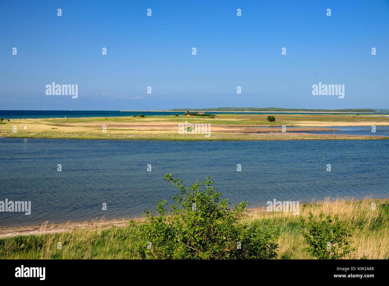 Baltic island Poel, protection of birds island Langenwerder with Gollwitz, Ostseeinsel Poel, Vogelschutzinsel Langenwerder - Stock Image
