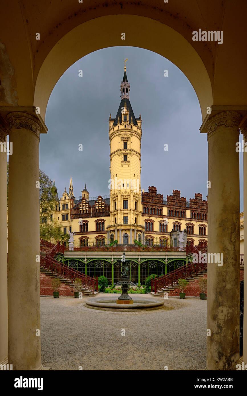 Schweriner castle, orangery in the Schweriner castle, Schweriner Schloss, Orangerie im Schweriner Schloss - Stock Image