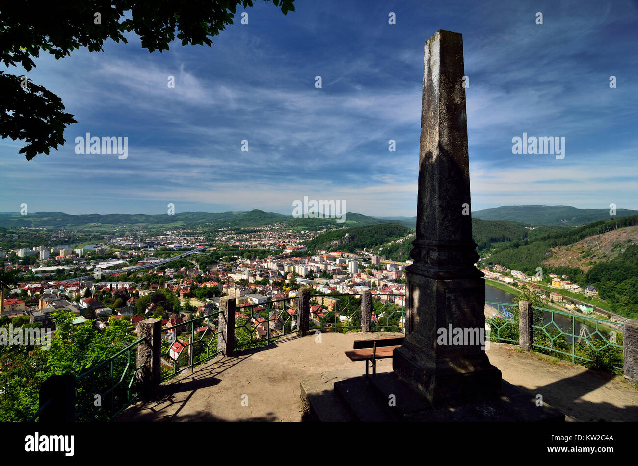 Decin Tschechien decin tetschen czechia decin of the vantage point ashlar mountain