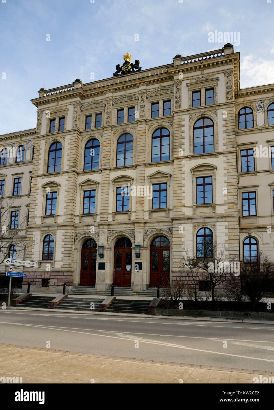 Chemnitz, headmaster's office building of the University of Technology in the street of the nations, Rektoratsgebäude - Stock Image
