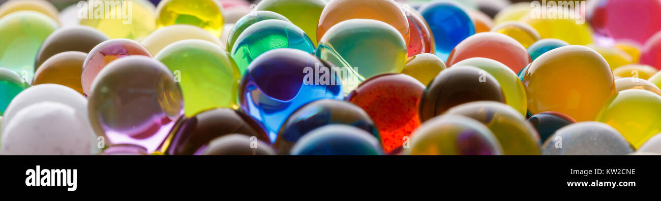 Сoloured texture of  ball, Background color of the hydrogel beads - Stock Image