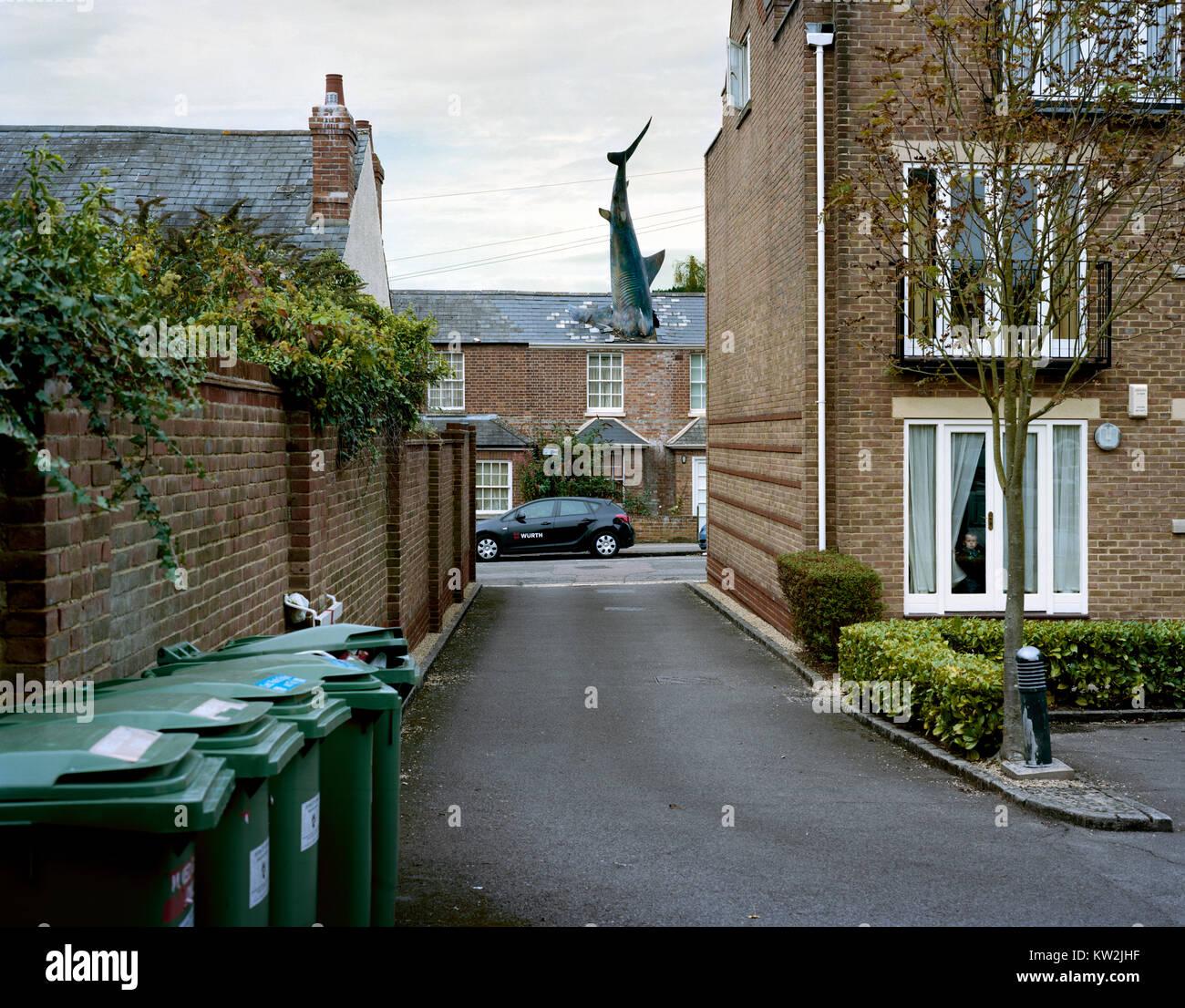 Headington Shark Oxfordshire High Street in Headington, East Oxford, UK. - Stock Image