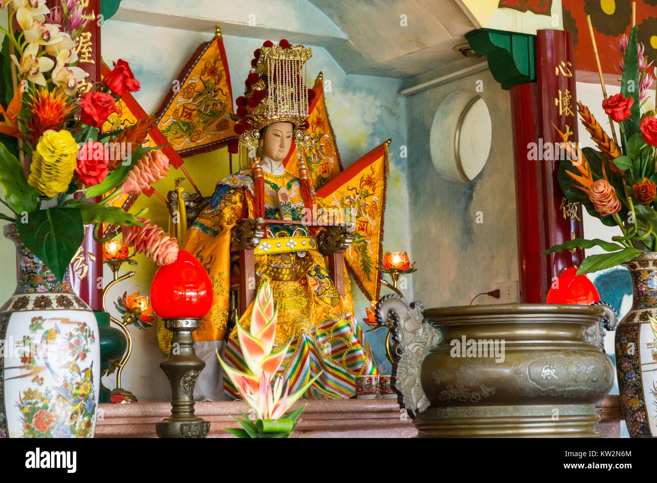 Chinese Figurine within the Taoist temple,Cebu City,Philippines - Stock Image