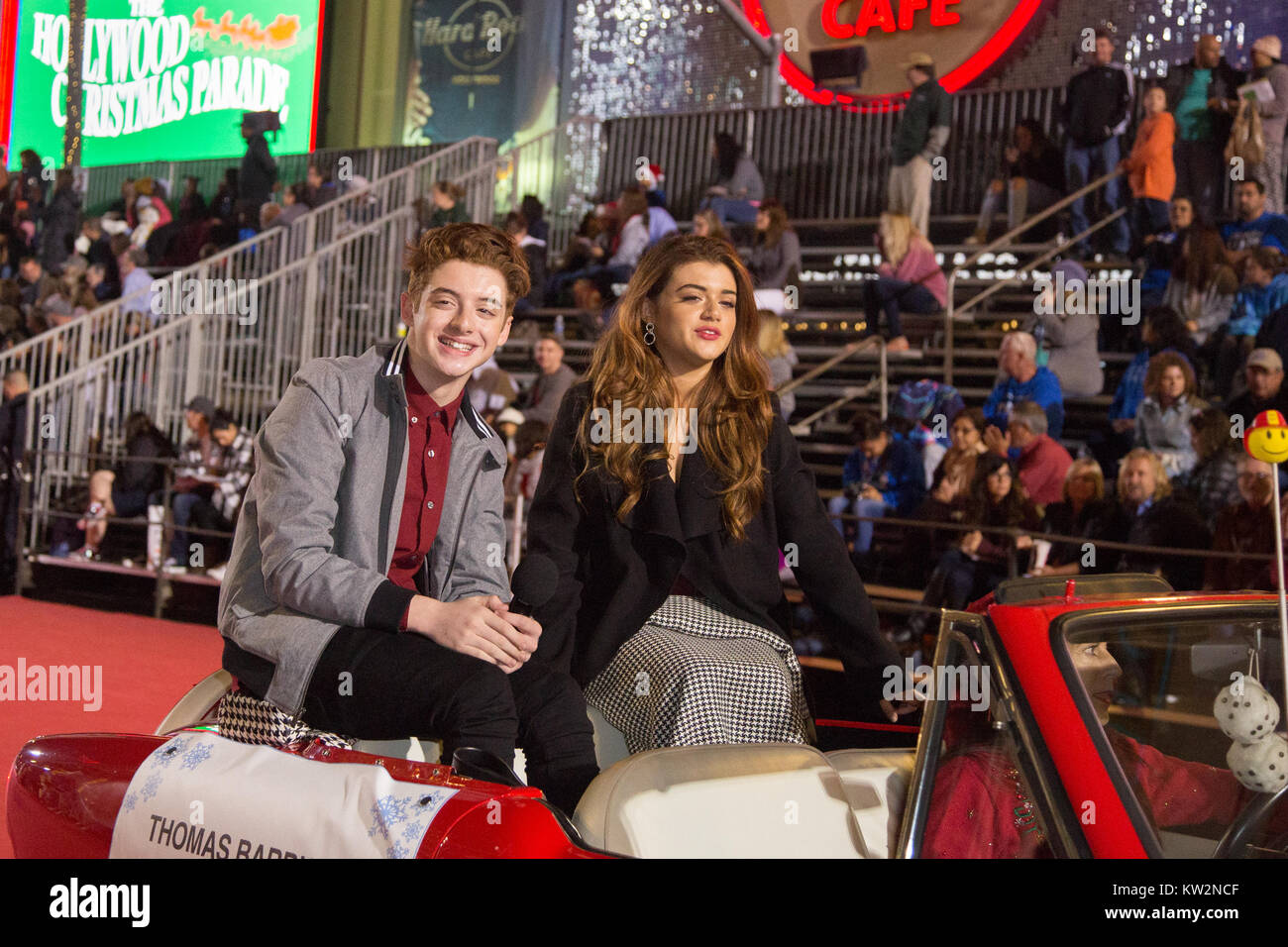 86th annual hollywood christmas parade in los angeles california featuring thomas barbusca brielle barbusca where los angeles california