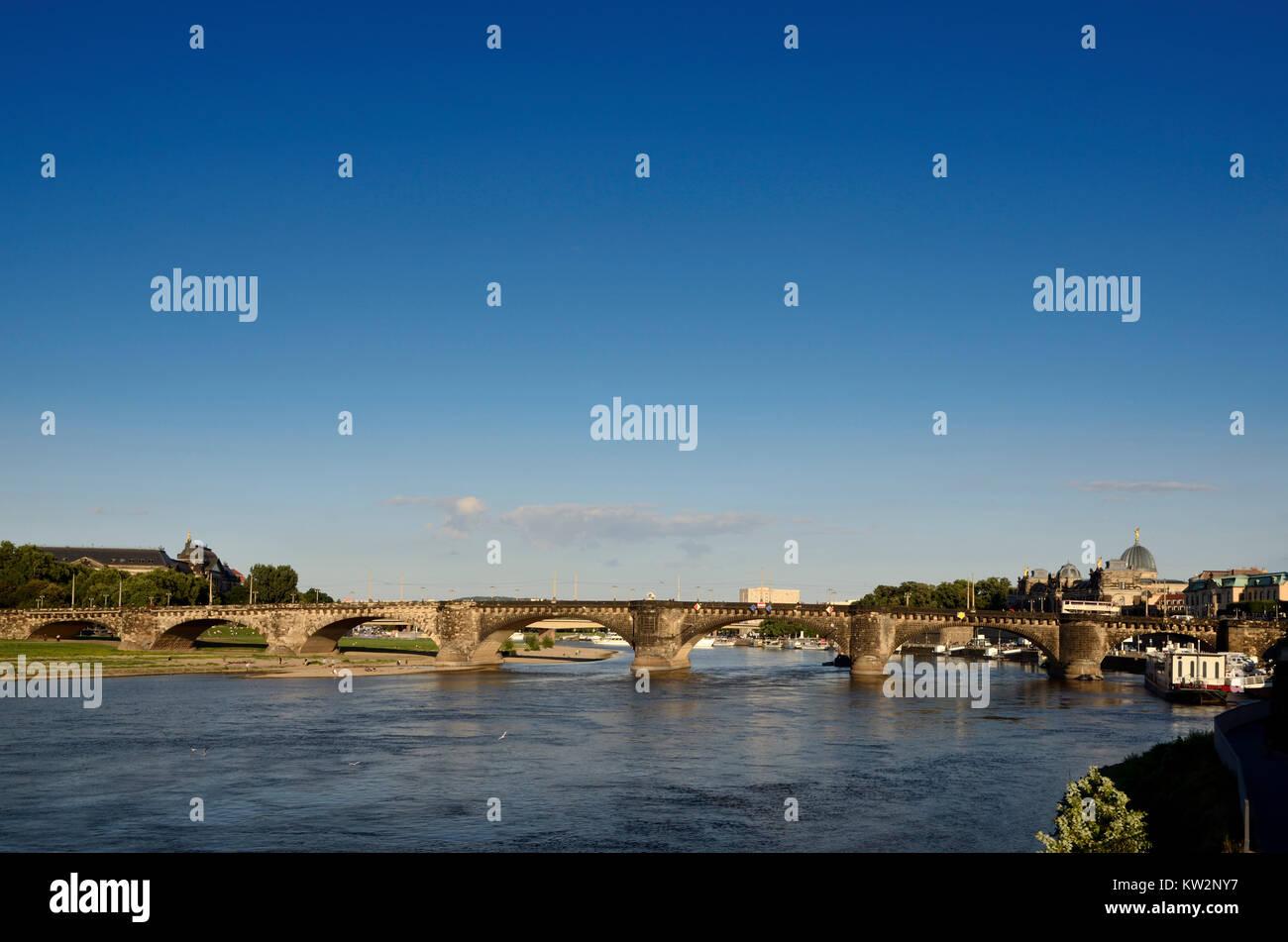 Augustusbruecke, Dresden - Stock Image