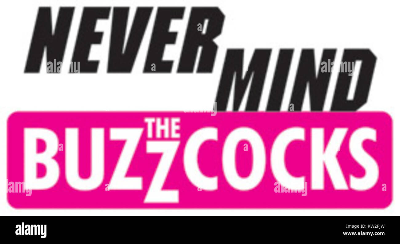 Never Mind the Buzzcocks logo - Stock Image