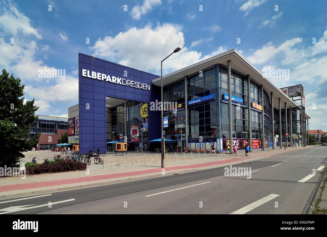 Shopping centre Elbe park, Dresden, Einkaufszentrum Elbepark - Stock Image