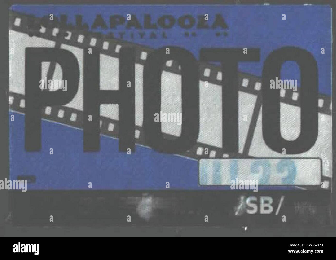 Siouxsie and the Banshees photopass at the 1991 Lollapalooza - Stock Image