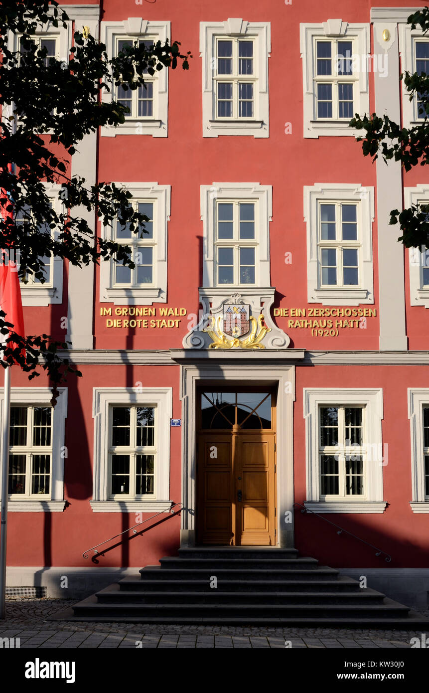 historical recollection in the old city hall, Thuringia, Wallowing, historische Erinnerung am Altes Rathaus , Thueringen, - Stock Image