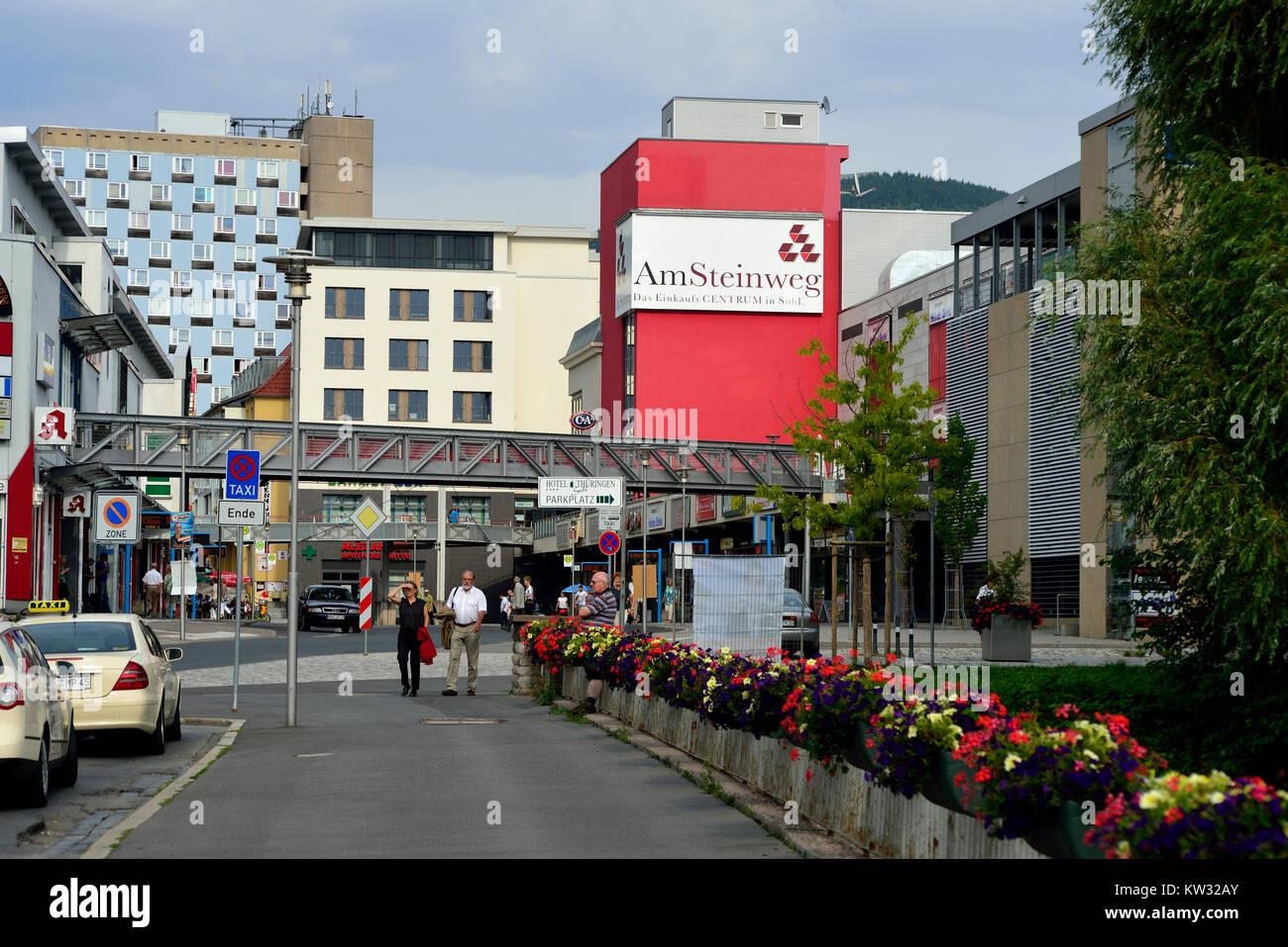 Shopping centre in the stone way, Thuringia, Wallowing, Einkaufszentrum Am Steinweg, Thueringen, Suhl - Stock Image