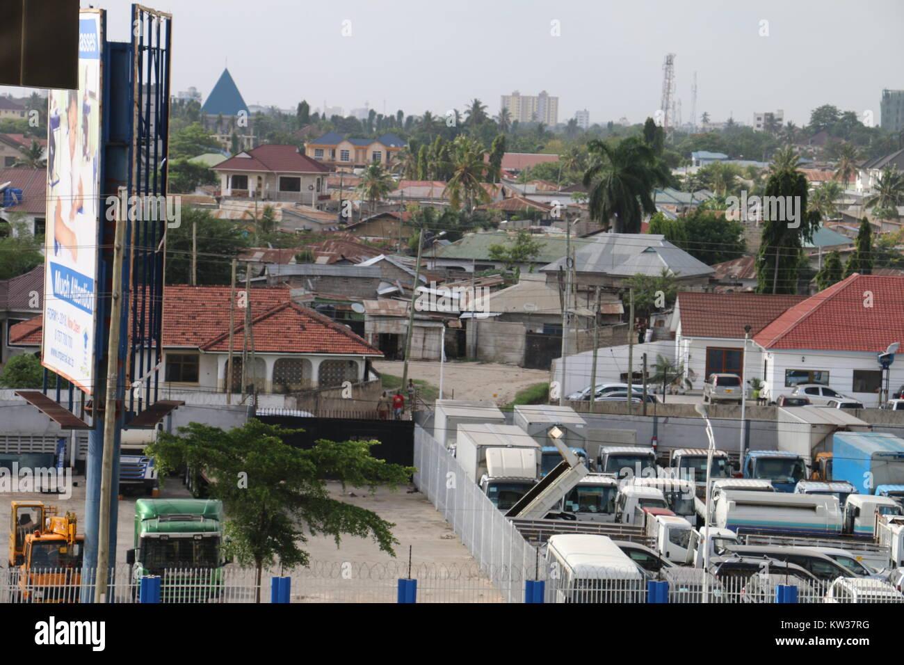 Dar Es Salaam Tanzania Streets. HD Image shot from above - Stock Image