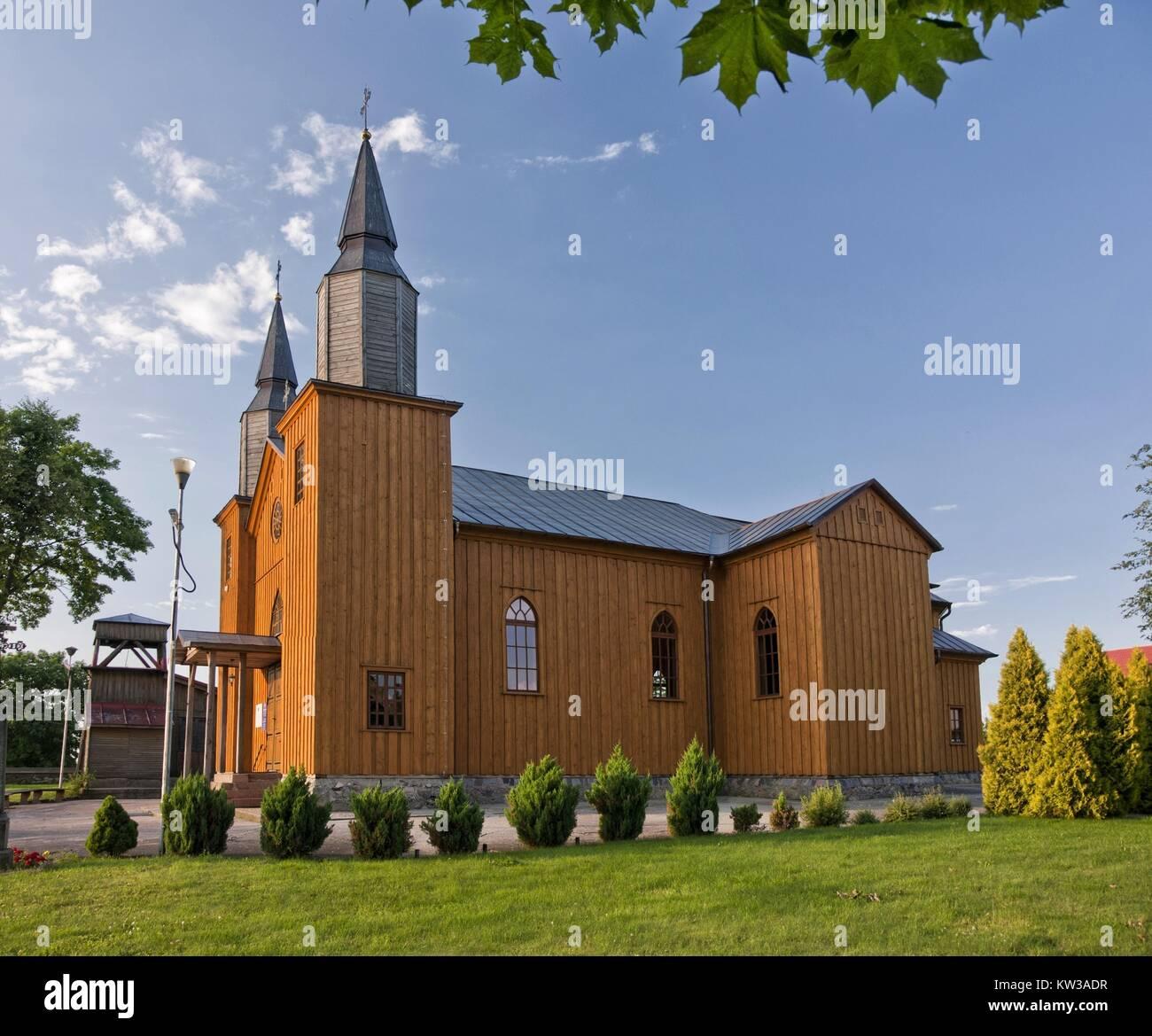 Holy Heart of Jesus Church in Jeleniewo, Podlaskie Voivodeship. Stock Photo