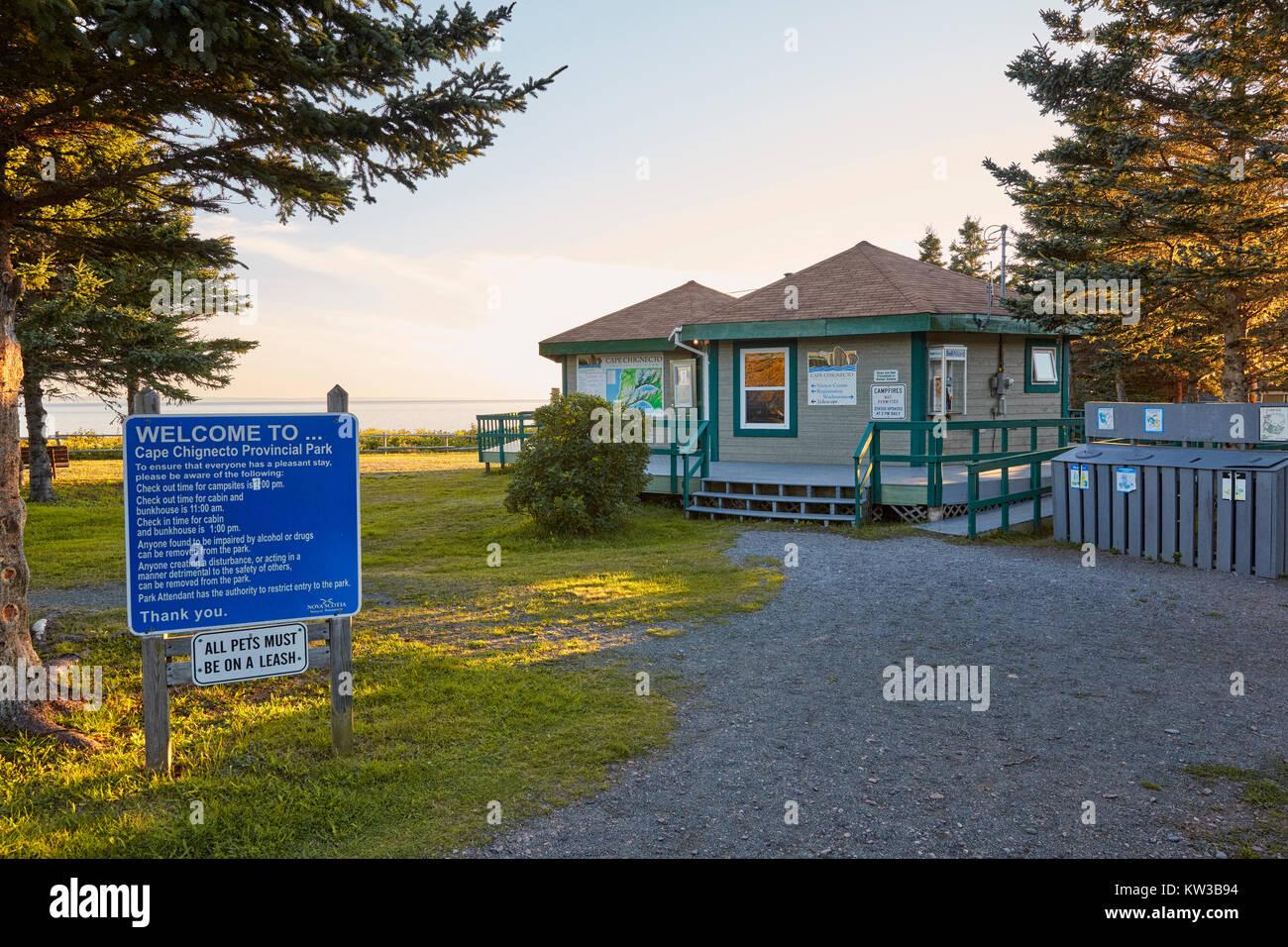 Cape Chignecto Visitor Center, Cape Chignecto Provincial Park, Nova Scotia, Canada - Stock Image