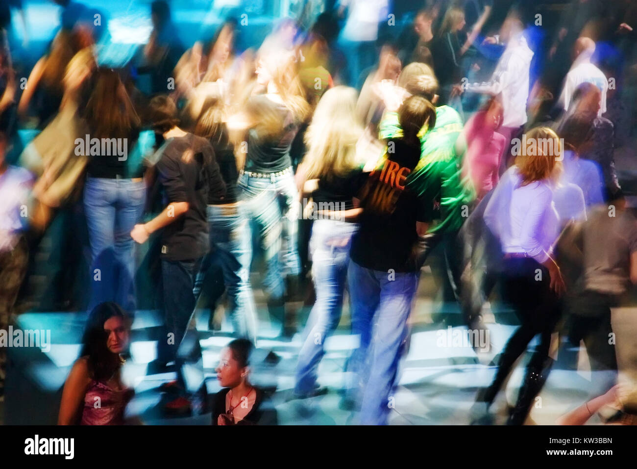 In club it was very cheerful - Stock Image