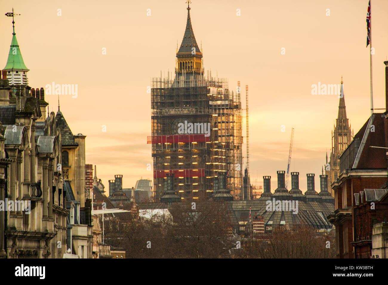 Big Ben undergoing renovation. Stock Photo
