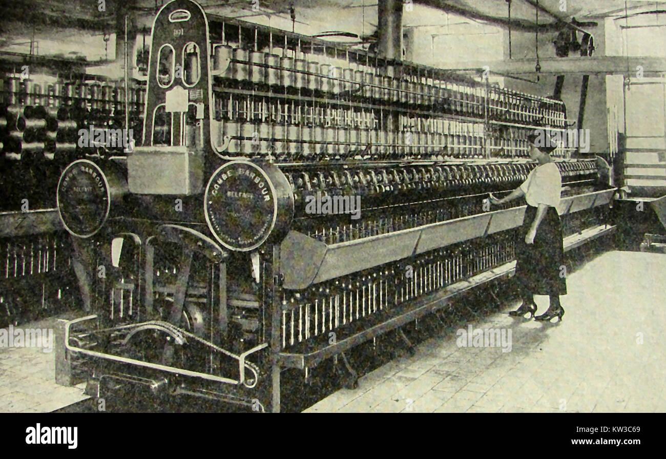 IRISH FLAX INDUSTRY - \'Modern\' flax spinning frame machinery 1933 ...