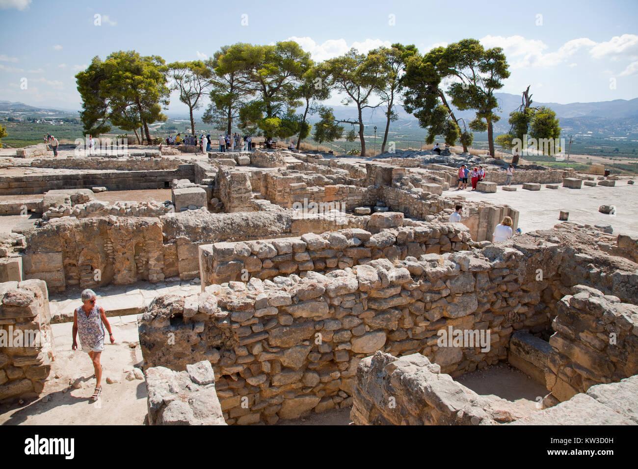 Central courtyard area, Festos, archeological area, Crete island, Greece, Europe Stock Photo