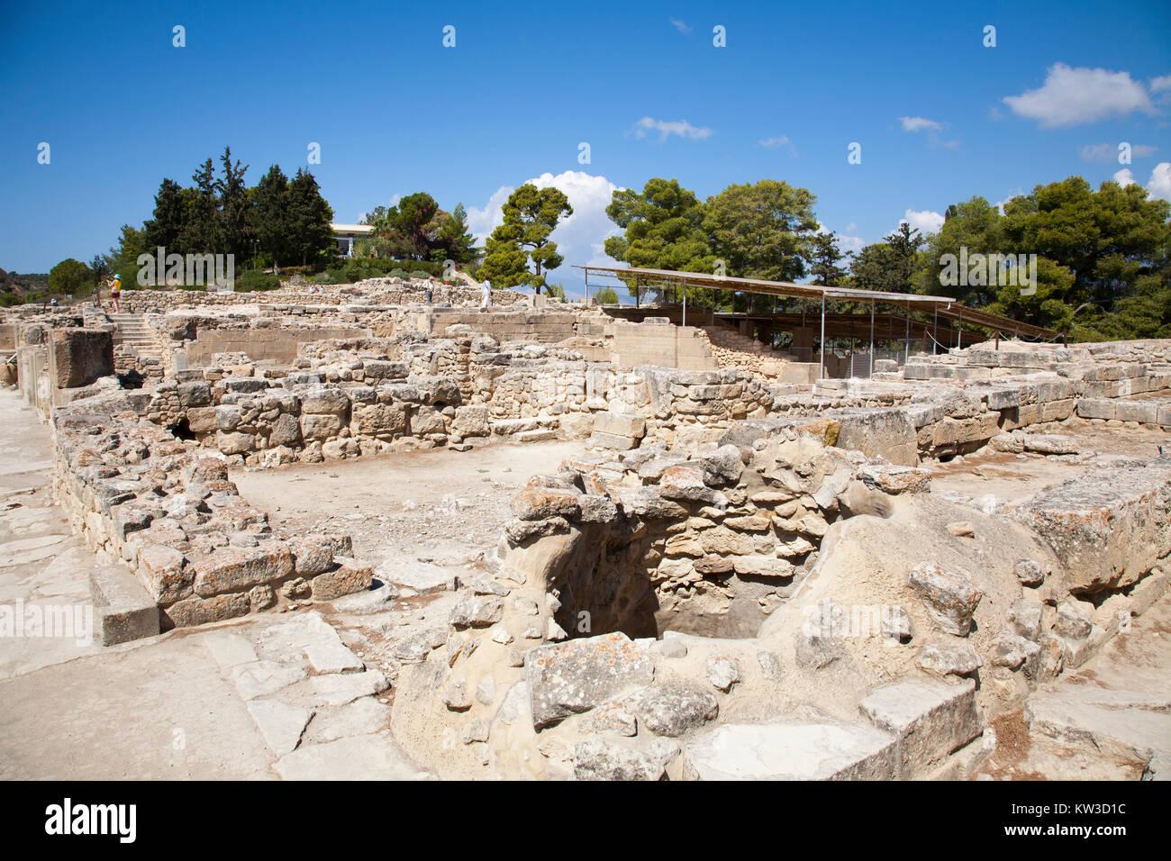 Festos, archeological area, Crete island, Greece, Europe Stock Photo