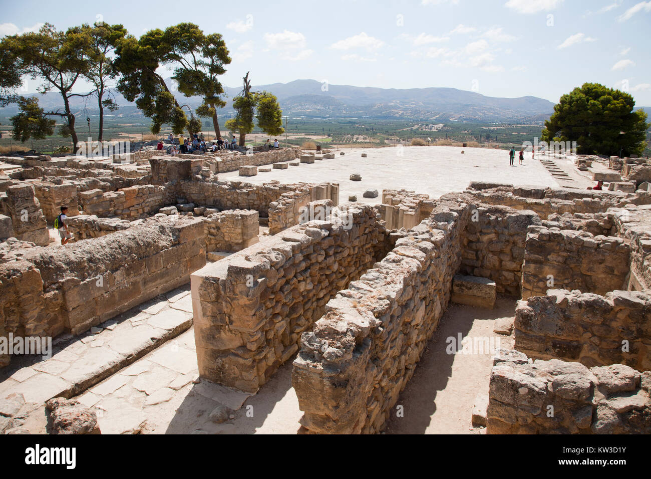 Central courtyard and area, Festos, archeological area, Crete island, Greece, Europe Stock Photo