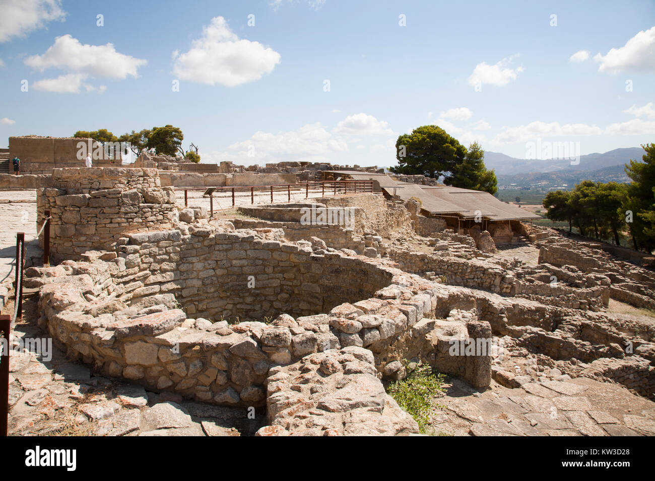 The Kouloures, Festos, archeological area, Crete island, Greece, Europe Stock Photo