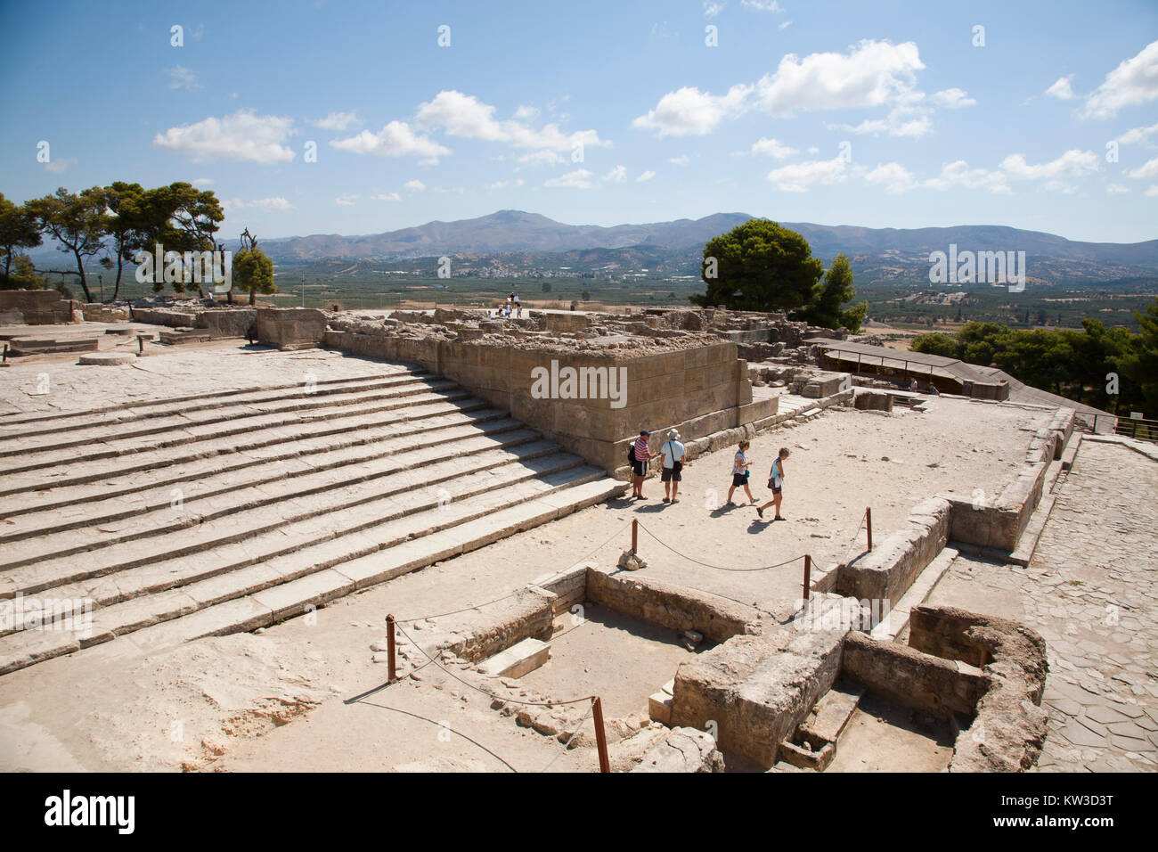 West Propylaea, Festos, archeological area, Crete island, Greece, Europe - Stock Image