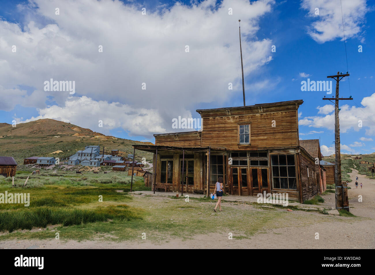 Old Saloon in  Ghost Town - Stock Image