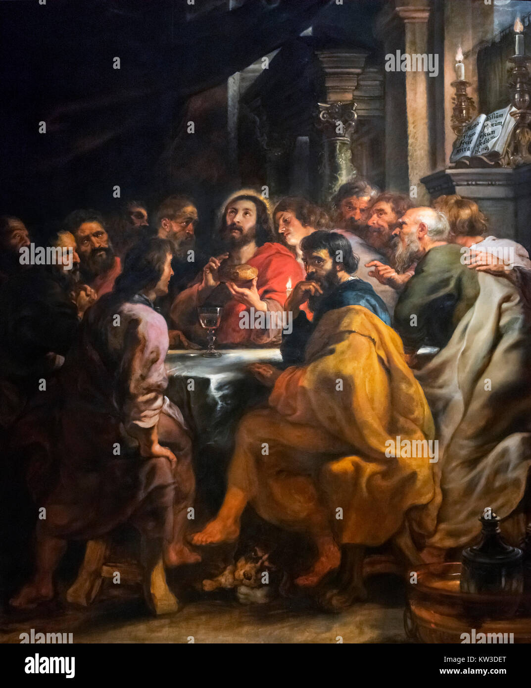 The Last Supper by Sir Peter Paul Rubens (c.1577-1640), oil on wood, 1631/2 - Stock Image